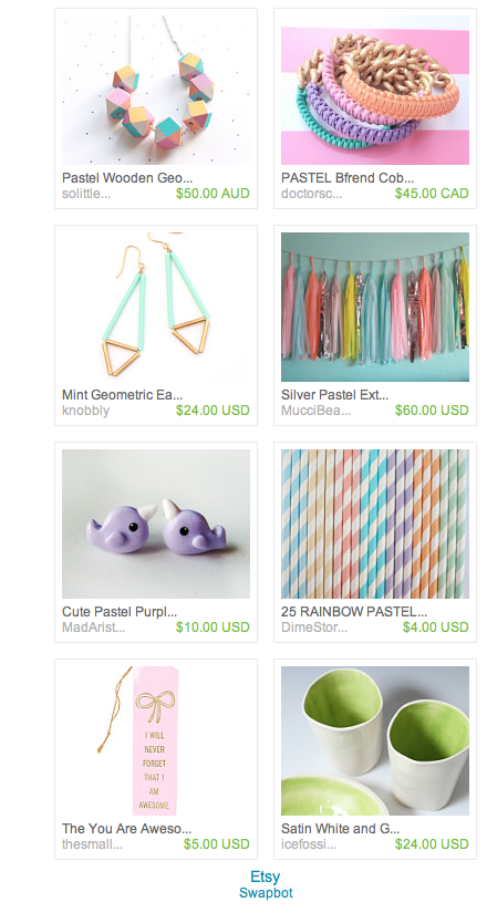 Pastel Power on Etsy