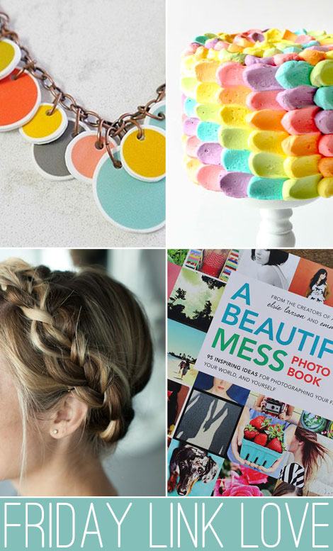 friday link love - necklaces, cakes, braids, and books